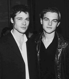 The first in a people who should do a movie together series. Brad Pitt and Leonardo Dicaprio - Look how young they were! Hollywood, Beautiful Boys, Beautiful People, Hot Men, Sexy Men, Leonard Dicaprio, Young Leonardo Dicaprio, Kris Kristofferson, Mickey Rourke