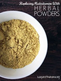 All about supplements, and how to make your own with herbal powders (and why you should!)