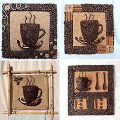 DIY 3D Coffee Cup Wall Decor   15 Creative DIY Coffee Crafts