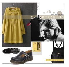 """Poor Kurt Cobain*"" by s-elle ❤ liked on Polyvore featuring Dolce&Gabbana, Blue Rose, Dr. Martens, NARS Cosmetics and throwbackstyle"