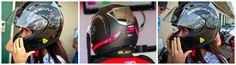 reevu+motorbike+helmets+and+woman+wearing+one