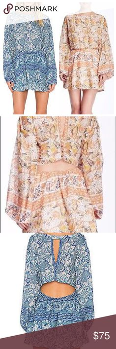 Selling this NWT Free People Sun Floral Dress Blue & Coral on Poshmark! My username is: dionysia8. #shopmycloset #poshmark #fashion #shopping #style #forsale #Free People #Dresses & Skirts