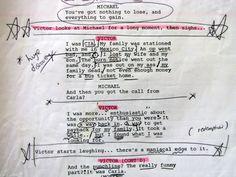script pages - Victor/Michael Shanks - Burn Notice S2 Finale Lesser Evil