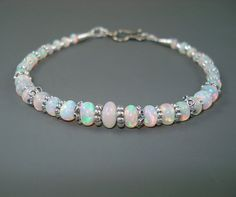 Opal Bracelet Ethiopian Fire Opals with by JewelryByJacoby on Etsy.