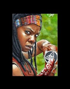 Michonne sketch -The Walking Dead by Dr-Horrible.deviantart.com on @deviantART