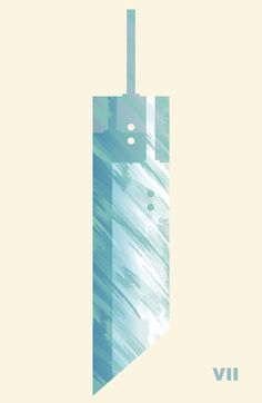 Via GIO on pixalry.io - The Weapons of Final Fantasy- Brilliant, low key art work showing Cloud Strife's famous Buster Sword from Final Fantasy 7. The page also showcases different iconic weapons from other games in the Final Fantasy series! Great post!