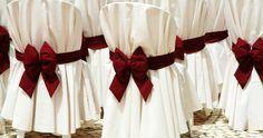 Зал для свадьбы: оформление мест для гостей