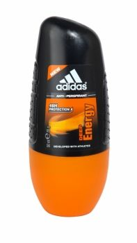Adidas Anti Perspirant Roll On 50ml Deep Energy Adidas Deep Energy Anti Perspirant is intense protection against perspiration, even for athletes! This long-lasting anti-perspirant has been developed with athletes to create the Max Dry System that ensures anti-odour and anti-whitening properties with no alcohol Shower Gel, Deodorant, Whitening, Chemistry, Athletes, Health And Beauty, Household, Fragrance, Alcohol