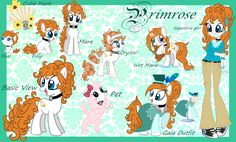 MLP - Primrose Reference Guide by Kazziepones on DeviantArt