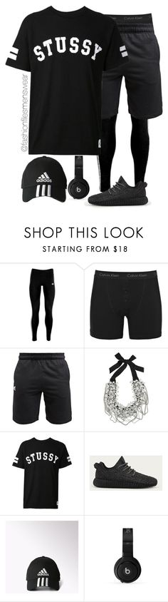 """To The Gym"" by highfashionfiles ❤ liked on Polyvore featuring adidas Originals, Calvin Klein Underwear, adidas, Oscar de la Renta, Stussy and Beats by Dr. Dre"