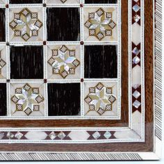 New Handmade Egyptian Mother of Pearl Inlaid Chess Board 16 inches  #NileCart