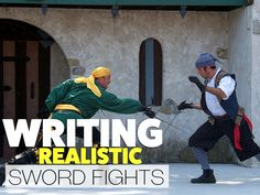 By Daeus Lamb Sword fights are common elements in literature and drama. Everyone wants to include them because they rouse the audience to mountainous heights o Fiction Writing, Writing Advice, Writing Resources, Writing Help, Writing A Book, Writing Prompts, Writing Ideas, Article Writing, Writing Fantasy