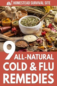 The following all-natural remedies don't just treat colds and flus. They're also extremely good for preventive care. Flu Remedies, Holistic Remedies, Natural Home Remedies, Herbal Remedies, Healthy Tips, How To Stay Healthy, Homestead Survival, Urban Survival, Survival Tips