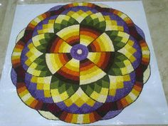 Rangoli Designs Flower, Rangoli Ideas, Flower Rangoli, Rangoli Colours, Indian Rangoli, Tropical, Messi, Beadwork, Drawings