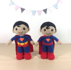 Superman Amigurumi Crochet Doll Pattern by 53Stitches on Etsy