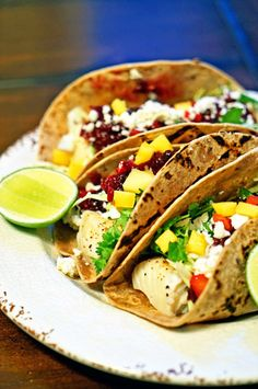 Grilled Fish Tacos with Roasted Cranberry Mango Salsa8