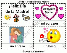 Mothers Day 2 Booklets in Spanish - El Día de la Madre from Sue Summers on TeachersNotebook.com (6 pages)  - Spanish Mothers Day 2 Booklets  - El Día de la Madre
