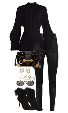 """""""Untitled #4864"""" by theeuropeancloset on Polyvore featuring Manokhi, Jacquemus, Jimmy Choo, Prada, E L L E R Y and Jean-Paul Gaultier"""