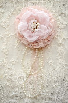 Large PINK gillyflower - Handmade Flower lace