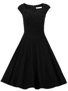 Heart Shape Collar Sleeveless Dress 18.33
