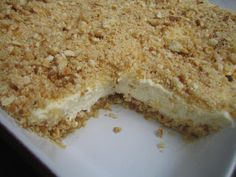 Israeli Cheesecake - my dad often talks about a dessert from his childhood, which was a cylindrical cream-cheese rolled in oats: I wonder if it wasn't a version of this. Must make it.