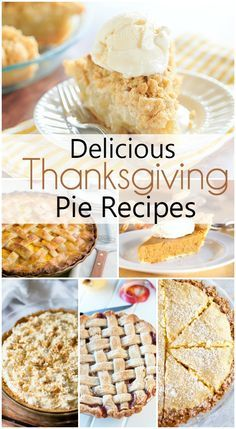 I can't think of Thanksgiving without thinking of PIE! Every year it's hard to decide which of my Favorite Thanksgiving Pie Recipes I should make, and then there are the classics that you just can't live without. Thanksgiving Desserts, Holiday Desserts, Holiday Baking, Holiday Recipes, Thanksgiving Prayer, Thanksgiving 2020, Thanksgiving Outfit, Thanksgiving Decorations, Pie Dessert