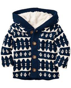 Sherpa Lined Sweater Jacket from #HannaAndersson.
