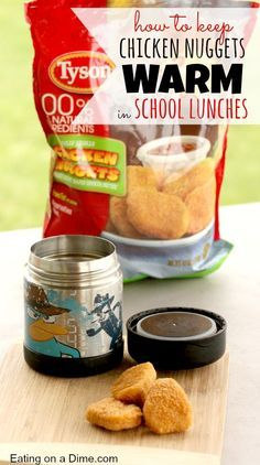 Keeping Chicken nuggets warm (and crisp) in school lunches! Some great tips on packing school lunches. Check them out here! Keeping Chicken nuggets warm (and crisp) in school lunches! Some great tips on packing school lunches. Check them out here! Thermos Lunch Ideas, Lunch Snacks, Thermos For Kids, Lunchbox Ideas, Kid Snacks, Back To School Lunch Ideas, Kids Lunch For School, School Ideas, School Pack