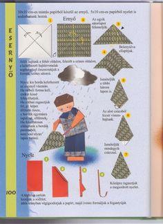 paraplu vouwen met kleuters
