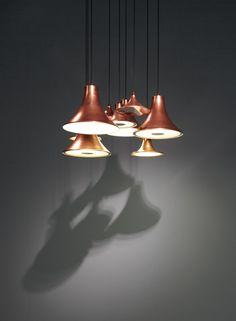 Copper pendant lamp Sirens Series by Trizo21 | design Olga Bielawska