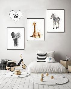 Nursery Animal Print Set 3 animal prints watercolor elephant giraffe zebra safari animal prints nursery safari baby shower is part of Nursery Animal Print Set Animal Prints Watercolor X - lynnlangmadephotography Nursery Room, Boy Room, Kids Bedroom, Beige Nursery, Yellow Nursery, Nursery Ideas, Animal Nursery, Giraffe Nursery, Baby Elephant
