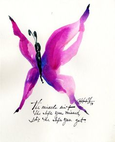 The Miracle Butterfly... No.7  - Original watercolor painting by Kathy Morton Stanion EBSQ