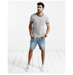 Man's Stripped Casual T-Shirt (100% Pure Cotton)