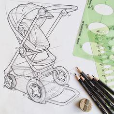 Do strollers qualify as #transportationdesign? 😬 . . #permafrostdesign #designstudio #designersatwork #industrialdesign #ID #productdesign #design #sketching #sketch #sketches #idsketching #idsketch #designsketch #drawing #illustration #pencilsketch #pencildrawing #prismacolor #prismacolorpencils #stokke #stokkebaby #stokkescoot #stroller