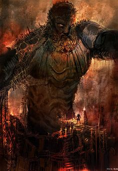 View an image titled 'Colossus of Rhodes Art' in our God of War II art gallery featuring official character designs, concept art, and promo pictures. God Of War Series, God Of War Game, Kratos God Of War, Esoteric Art, Greek Gods, Video Game Art, Greek Mythology, Deities, Cool Artwork