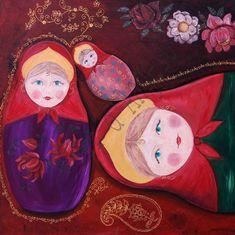 """Tableau """"les poupées Russes"""""""