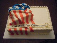 Flag Cake For Military Retirement on Cake Central
