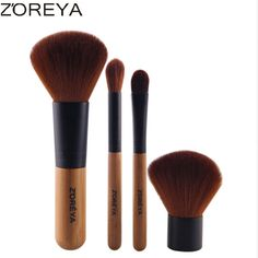 ZOREYA Brand 2016 Fashion Bamboo Makeup Brush Set Natural Soft Brushes As Beauty Tool For Daily Cosmetics