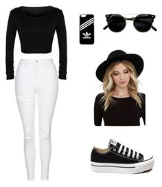 """""""Untitled #2"""" by sardine04 on Polyvore featuring Topshop, Converse, adidas and RHYTHM"""