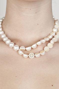 Melanie Georgacopoulos - Sliced pearl necklace