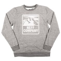 Neff Sweater Mountaineering / heather grey #fashion #crewneck #pullover #style #styling #neff #sweater http://rudestylz.de/neff-sweater.htm