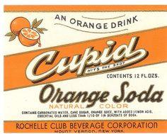Cupid Orange Soda - 1950er