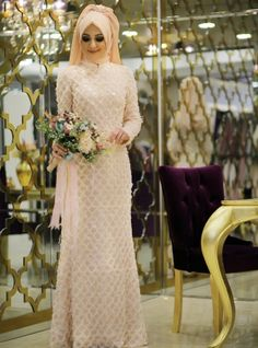 Stamps Evening - Salmon - Minel Ask Muslim Evening Dresses, Sequin Evening Dresses, Modest Dresses, Bridesmaid Dresses, Wedding Dresses, The Dress, Dress Skirt, Hijab Dress, Plus Size Blouses