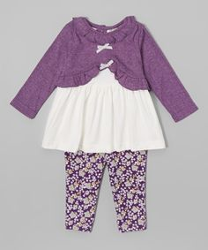 Look at this Plum Pointelle Sweater & Leggings - Infant on #zulily today!