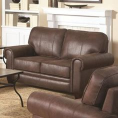 Check out the Coaster Furniture 504202 Bentley Rustic Styled Love Seat in Brown with Microfiber Upholstery Brown Family Rooms, Living Room Furniture, Home Furniture, Bathroom Furniture, Microfiber Sofa, Coaster Fine Furniture, Leather Loveseat, Best Sofa, Discount Furniture