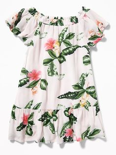 3e87e075feafd Ruffled Floral-Print Dress for Toddler Girls