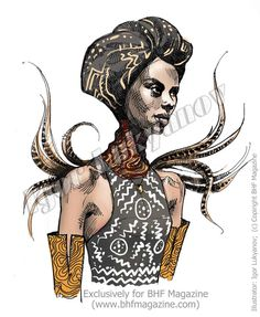 African fashion figure illustration (by Igor Lukyanov)