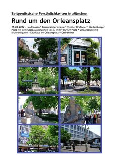 münchner spaziergänge: August von Voit und der Orleansplatz