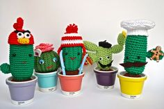 Amigurumi Crafteando, que es gerundio: Patrón: Cactus fan de Angry Birds/ Pattern: Angry Birds fan cactus