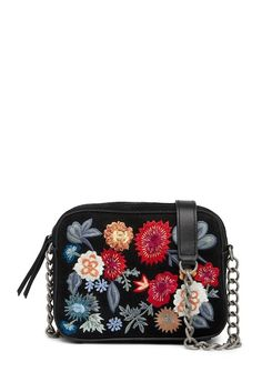 a209e9ff4f73 Image of Lucky Brand Super Bloom Floral Embroidered Suede Crossbody Bag  Lucky Brand, Nordstrom Rack